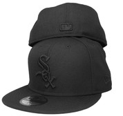 Chicago White Sox New Era All Black 59Fifty Fitted Hat - Black