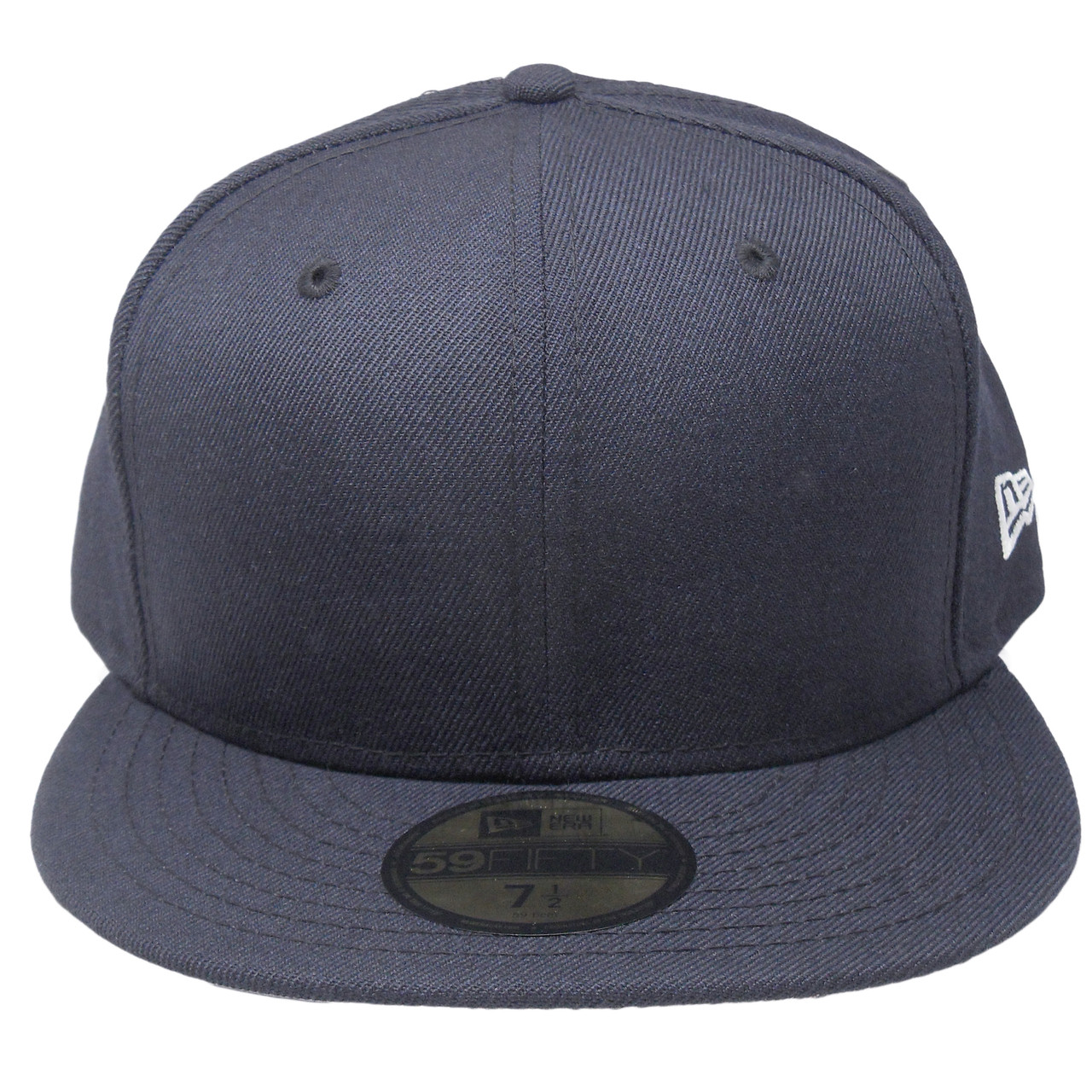 New Era 59Fifty Plain Blank Fitted Hat - Navy - ECapsUnlimited.com 18e13cb221c