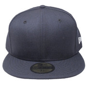 New Era 59Fifty Plain Blank Fitted Hat - Navy