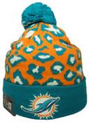 Miami Dolphins New Era Winter Jungle Collection Knit - Orange, Aqua, White