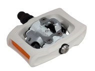 Shimano PD-T400 Click'R Pedals White Front Right