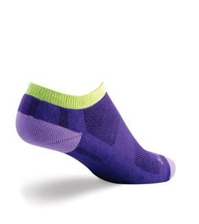 Sock Guy Channel Air No-Show Women's Socks Grape Aid