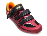 Mavic Ksyrium Elite II Men's Road/Indoor Cycling Shoes - Red/Blk/Org - Front Right