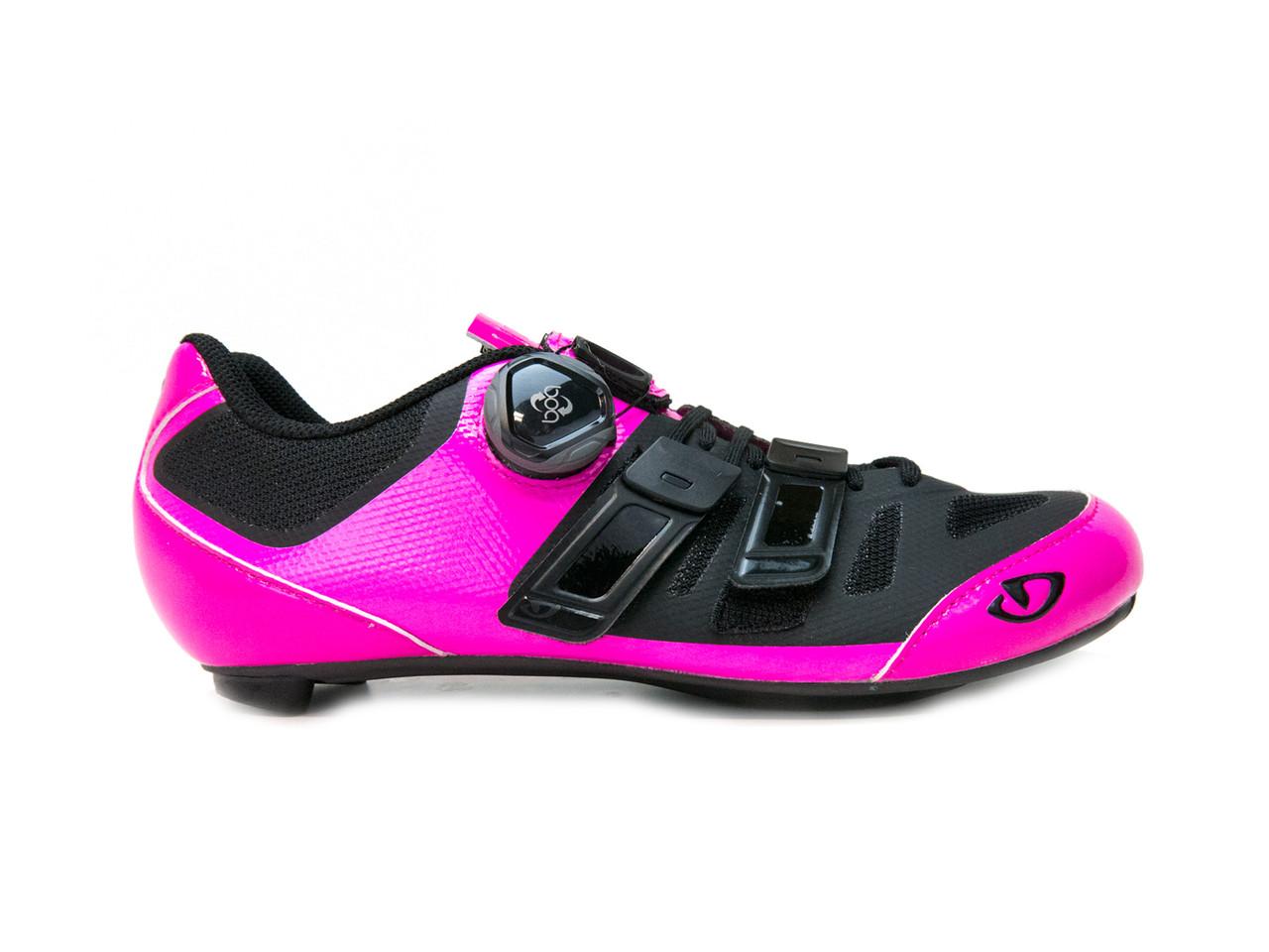 Giro Raes Techlace Bright Pink//Black Womens Road Bike Shoes Size 37