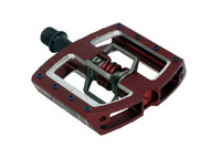 Crankbrothers Mallet DH Race Pedals Red Front Right