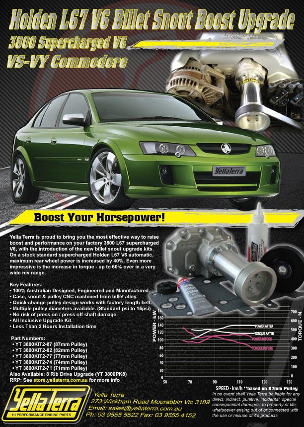 HOLDEN V6 ECOTEC L67 VS-VY BILLET SNOUT BOOST UPGRADE KIT (Intercooler  Recommended)