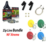 ZLX-90 90' Xtreme Zip Line Bundle