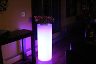 "Led Column Flower Pot 38"" Tall Cordless Waterproof with Remote Control"