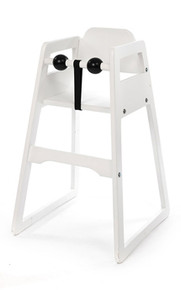 No-Tray Restaurant High Chair Snowy White