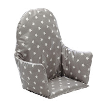 No Tray High Chair Cushion Insert - Grey Stars