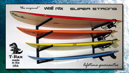 horizontal surfboard rack