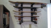 Get your skateboard on the wall in style with T-Rax.  All Skate Racks come with a Lifetime Guarantee.