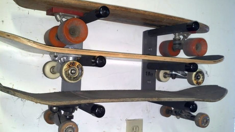 T-Rax Wall Mount Skateboard Racks are Super Strong.  Made in the U.S.A. and Guaranteed Forever!