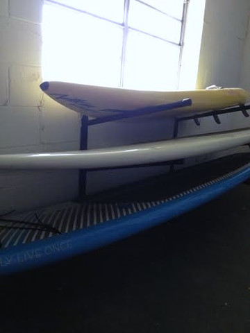 All Sup racks come with Stainless Steel Hardware. T-Rax SUP racks are 100% Made in the U.S.A. Safe Secure way to store your SUP and Paddle board.