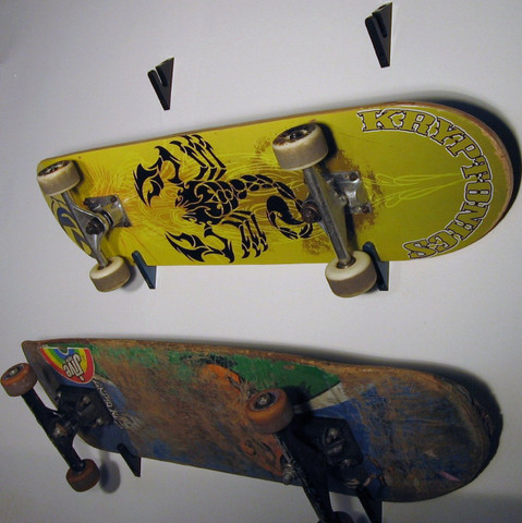 Super Sick Skateboard Wall Hanger. Your Friends Will Wish They Were You When They See Your Boards All T-Raxed Up.
