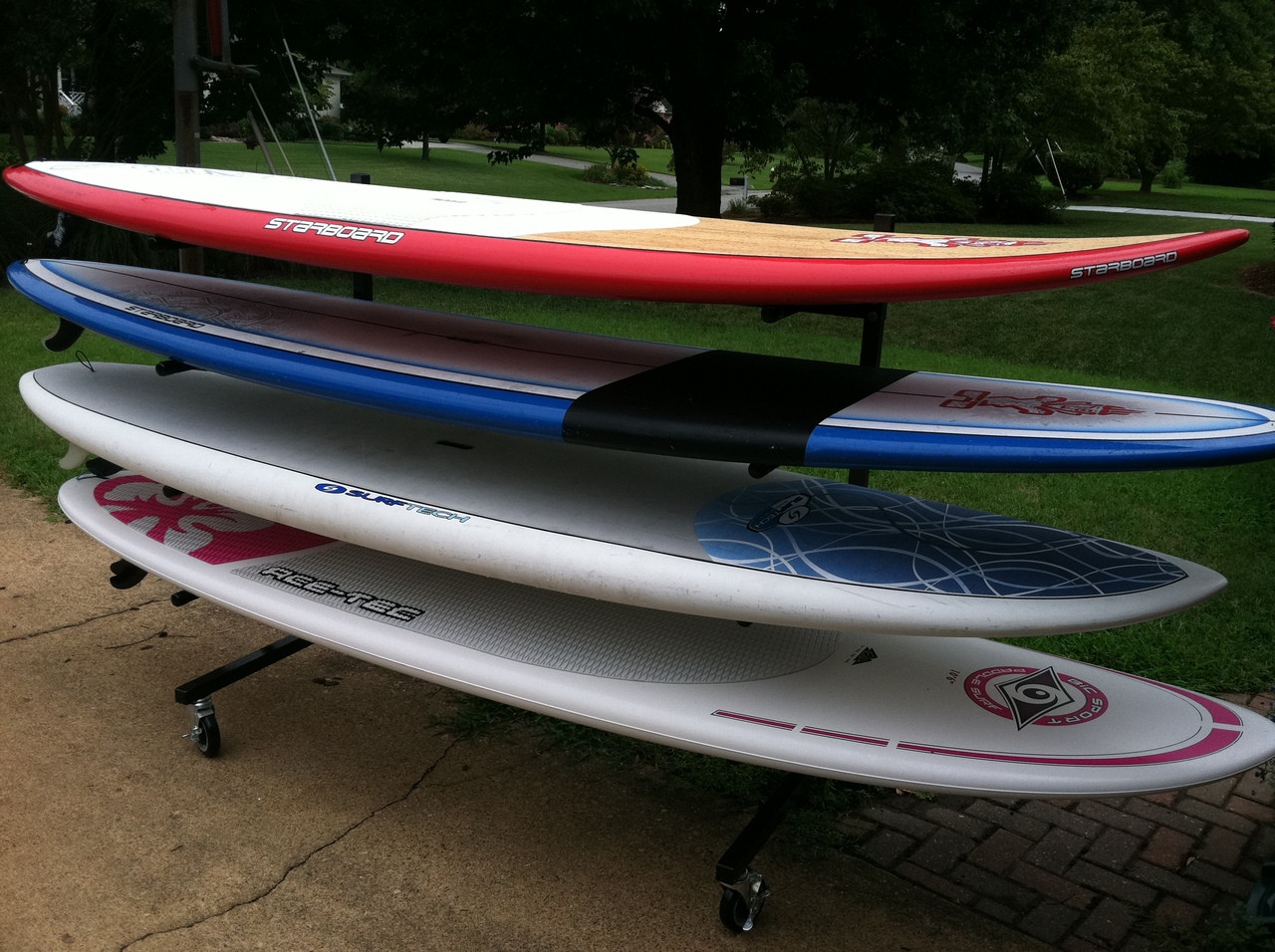 Paddle Board Rack >> Sup Rack Mobile Freestanding Stand Up Paddle Board Storage Rack