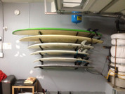 The 6 surfboard T-Rax loaded and ready for surf.  Surf racks come with a 30 day money back guarantee.