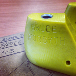 We make shoes up for Sir Bruce Forsyth, and these are his custom made lasts for the perfect fit!