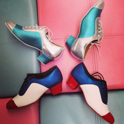 CK Line shoes made up in two very colourful combinations.