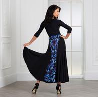 Rayne Ballroom Skirt Black and Print