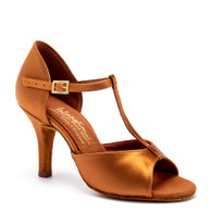 "LTB - Tan Satin - Pictured on the 3"" Elite heel."