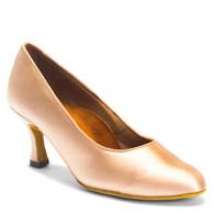 "ICS RoundToe - Flesh Satin - Pictured on the 2.5"" IDS heel."