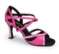 "Bianca Crystal - Pink Seta - Pictured on the 3.5"" IDS heel."