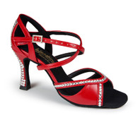 "Bianca Crystal - Red - Pictured on the 3.5"" IDS heel."