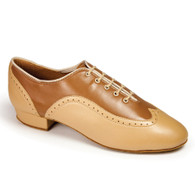 "Brogue - Tan/Beige - Pictured on the 1"" heel."