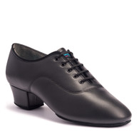 "Spanish Tango - Black Calf - Pictured on the 1.5"" heel."