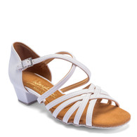 """Girls Flavia - White - Pictured on the 1.25"""" Cuban heel."""