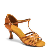 "L3005 - Tan Satin - Pictured on the 2.5"" IDS heel."
