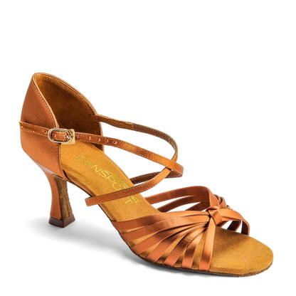 "L3006 - Tan Satin - Pictured on the 2.5"" IDS heel."