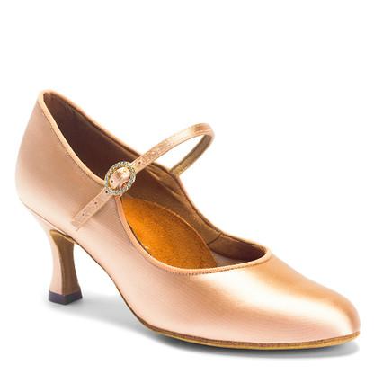 "ICS Classic - Flesh Satin - Pictured on the 2.5"" IDS heel."