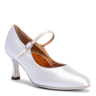 "ICS Classic - White Satin - Pictured on the 2.5"" IDS heel."