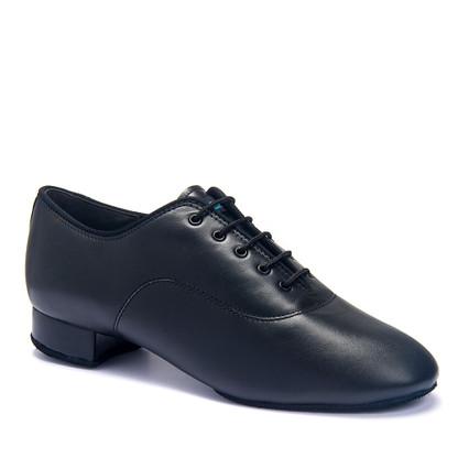 "Tango - Black Calf - Pictured on the 1"" heel."