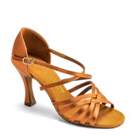 "L3007 - Tan Satin - Pictured on the 3"" IDS heel."