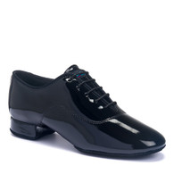 "Contra Pro - Black Patent - Pictured on the 1"" heel."
