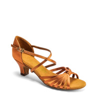"G1013 - Tan Satin - Pictured on the 1.5"" Junior heel."
