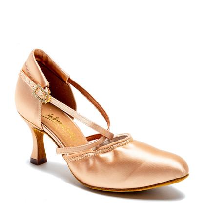 "American Flex - Flesh Satin - Pictured on the 2.5"" IDS heel."