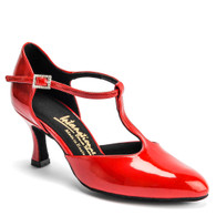 "Zoe Rounded Toe - Red Patent  - Pictured on the 2.5"" IDS heel."
