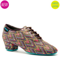 "KATYA Heather Split - Spyro Aztec - Pictured on the 1.5"" Heather heel."
