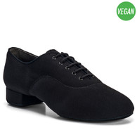 "Vegan Contra - Black Lycra - Pictured on the 1"" heel."