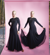 Lacey Ballroom Dress - Black