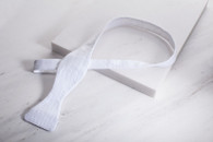 Designer Bowtie Self Tie Small - White