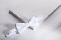 Designer Velcro Bow-Tie - White