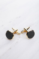 Chrisanne Clover Cufflinks Pair - Gold/Black