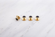 Chrisanne Clover Dress Studs X4 - Gold/Black