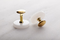 Collar Studs Set Of Two (Front & Back) - Gold