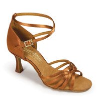 "Tanya - Tan Satin - Pictured on the 2.5"" IDS heel"